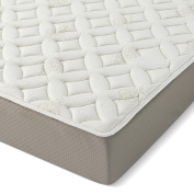 Serenia Sleep 30cm Quilted Sculpted Gel Memory Foam Mattress, Twin, White/Off-White/Brown