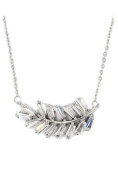 Ocean Fashion small crystal row Sterling Silver Chain silver necklace