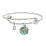 The Adjustable Band Bangle Bracelet featuring the ancient Picses astrology sign