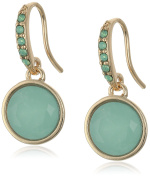 "Lonna & Lilly ""Classics"" Gold-Tone/Green Hoop Earrings"