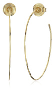 Robert Lee Morris Soho Gold Medium Hoop Earrings