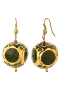 Dilan Jewels PURE Collection Black Colour Casual Wear Gold Plated Enamel Hoop Earrings For Women