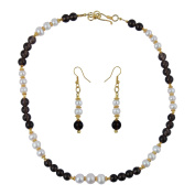 Pearlz Gallery Freshwater Pearl and Jade 46cm Necklace Set for Women