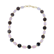 Pearlz Gallery Appealing Smoky Quartz, Rose Quartz Gem Stone Beads Necklace For Women