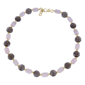 Pearlz Gallery Tempting Smoky Quartz, Rose Quartz Gem Stone Beads Necklace for Women