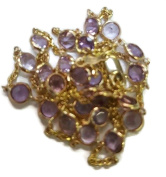Amethyst Pink Round 46cm Necklace with 14K Yellow Gold Lobster Lock