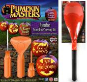 Pumpkin Masters Jumbo Pumpkin Carving Kit & Xtreme Scraper Scoop Bundle