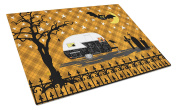 Halloween Vintage Camper Glass Cutting Board Large VHA3020LCB