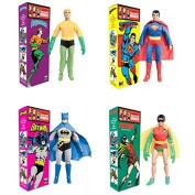 Aquaman, Batman, Robin, & Superman, DC Comics Retro 20cm Action Figures Solid Boxed Set