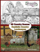 Adult Coloring Books: 48 Country Scenes Realistic Country Landscapes