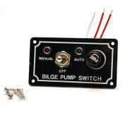 Whitecap S-8093 Black Aluminium Boat Bilge Pump Switch Panel
