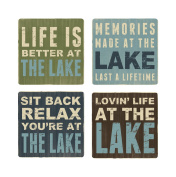 Young's 4-Piece Wood Coaster Set, 10cm