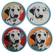 WL SS-WL-15363 Diameter Pop Art Inspired Dalmatian Coasters Set of 4, 10cm