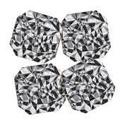DENY Designs Gneural Triad Illusion Grey Coasters, Set of 4