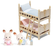 Calico Critters Hopscotch Rabbit Twins and Bunk Bed Set
