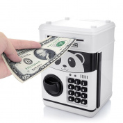 HJIAN Piggy Bank Cartoon Cash Coin Can Password ATM Money Box Children's Money Bank, Toy Banks, Automatic Bill and Coin Jar, Saving Pot