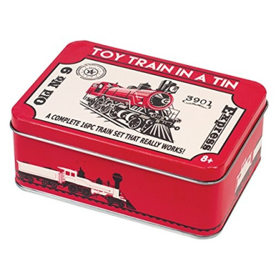 5 Classic Games & Train in a Tin (2 Pack) - Perfect Gift Idea!