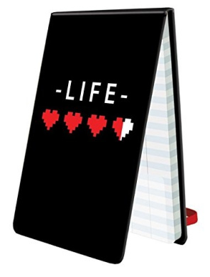 Ultra Pro 8-Bit Hearts 60-Page Life Pad Notebook Score Counter