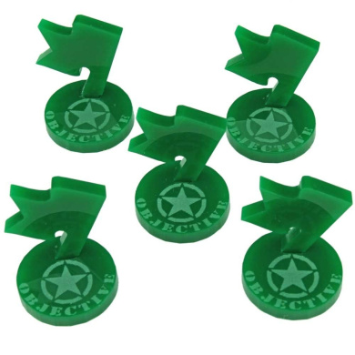 Mini Objective Markers, WWII American, Green (5)