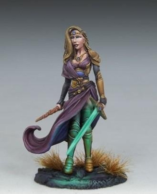 Visions In Fantasy: Female Warrior Mage w/Sword & Wand