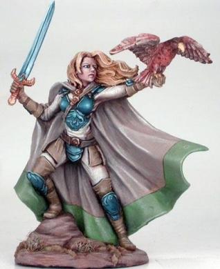Visions In Fantasy: Female Ranger w/Long Sword & Falcon Pet