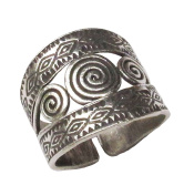 Thai Silver Ring Handmade Hill Tribe Size 7