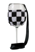 """CHC-Beverly Hills CHESS, High End Wine Necklace Holders """"Set of 5.1cm Black-White and White Ribbon Large"""