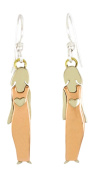 Single Sister with Copper Dress Dangle Earrings Silver-Plated Mima & Oly