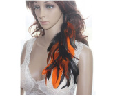 Feather Earrings for Women Hair Clip Natural Feather Earrings