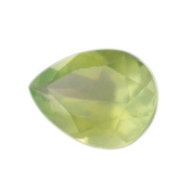 AAA Green Prehnite Pear Faceted .  Lot 2.70 ct 11.3x8x5.5 mm