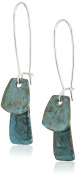 Robert Lee Morris Patina Sculptural Layered Petal Long Drop Earrings