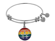 Brass White Finish Lgbtq Pride Enamel Charm for Angelica Collection Bangle