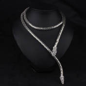 SunIfSnow Fashionable Accessories Snake Silver Golden Nightclub Party Necklace
