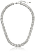 Oroclone 14k Plated 10mm Crystal Snake Chain Necklace