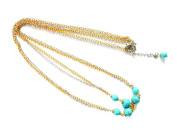Khum Wieng Kham Women's Chains with Turquoise Beaded Stone Head Chain, Head Piece