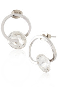 Curved and Crystal Stud Earrings by Lovey Lovey