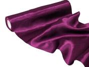 BalsaCircle 30cm x 10 yards Satin Fabric Put-up Wedding Decor - Eggplant Purple