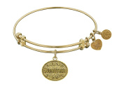 "Angelica Collection Non-antique Stipple Finish Brass ""godmother "" Expandable Bangle"