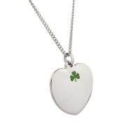 High Polished Stainless Steel Lucky Charm Clover Leaf Heart Pendant