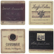 """CoasterStone AS8785 Absorbent Coasters, 11cm , """"Vineyard and Cellars"""", Set of 4"""