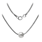 Ball Necklace 46cm Snake Chain SilverTone by Cape Cod Jewellery-CCJ