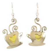Luv Latte Coffee Earrings Mima & Oly By Far Fetched