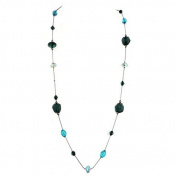 Fashion Hematite Green Long Necklace Women's Girl's Gift For Her
