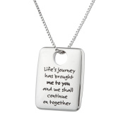 """High Polished Stainless Steel """"Life's Journey Has Brought Me To You…""""Friendship Pendant Lovers Necklace"""