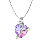 Osiana Romantic Love Pendant Necklace Jewellery Gift With Crystal from Elements Platinum-Plated 46cm