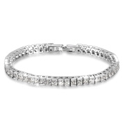 "Qianse® *Frozen* 7"" Brass Tennis Bracelet with AAA Cubic Zirconia [Must Have] Enliven You Dressing!"