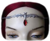 Vampire Bat Headpiece w/ Red Stone