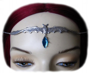 Vampire Bat Headpiece w/ Aqua Stone