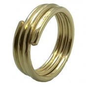 Elaments Design Solid Brass Stackable Midi Ring Hand Hammered Three Loop Design Fits Size 5
