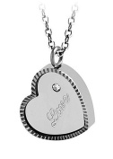 Poonsuk@lucky Stainless Steal Love in Heart Pendant and Necklace for Women.